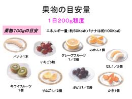 《果物の目安は1日200g程度》