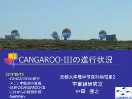 CANGAROO-Ⅲの進行状況 - 宇宙線研究室
