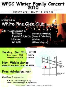 WPGC Spring Family Concert 2008