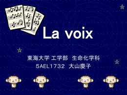 作成例2 La voix大山