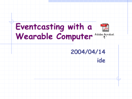 Eventcasting with a Wearable Computer