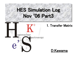 HES Simulation Log Oct. `06 Part2