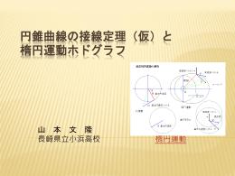円錐曲線の接線定理(仮)と 楕円運動ホドグラフ