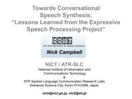 ppt - ISCA - International Speech Communication Association