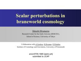 Scalar perturbations in braneworld cosmology