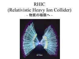 RHIC (Relativistic Heavy Ion Collider)