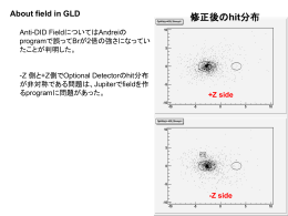 About field in GLD - SAGA-HEP