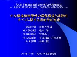 四国地方の地殻変動 - 東京大学地震研究所