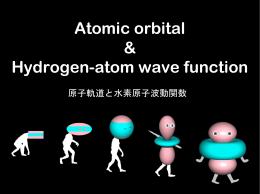 Atomic orbital & Hydrogen