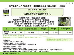 地下鉄車内ガイド放送広告 長堀鶴見緑地線