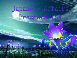 Japanese Affairs Presentation