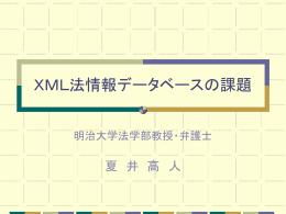 XML法情報データベースの課題