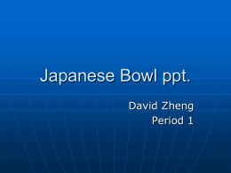 Japanese Bowl ppt.
