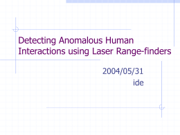 Detecting Anomalous Human Interactions using Laser Range