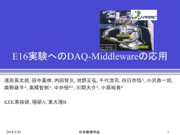 DAQ-Middleware活用事例1