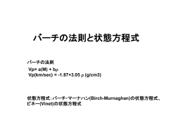 (Birch-Murnaghan)の状態方程式