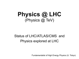 Physics @ LHC