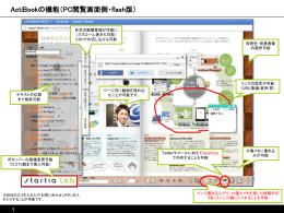 ActiBookの機能(PC閲覧画面側・flash版)