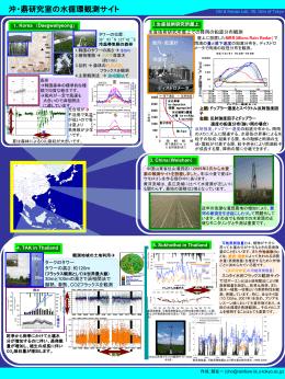 沖・鼎研究室の水循環観測サイト - Oki Laboratory, IIS, Univ. of Tokyo