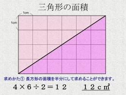 求めかた② たて2cm、横6cmの長方形に変形して求めることができます。