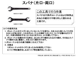 日常の工具の取扱い-04スパナ(片口、両口)[PPT]