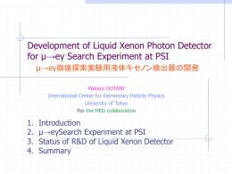 Development of Liquid Xenon Photon detector for μ→eγ search