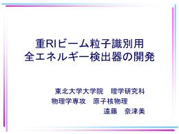 重RIビーム粒子識別用 全エネルギー検出器の開発