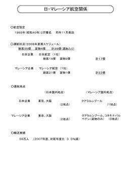 日本・マレーシア航空関係