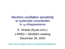 Neutrino oscillation sensitivity w/ systematic uncertainties in nm