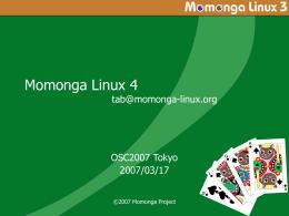 Momonga Update 2006/03~2006/10