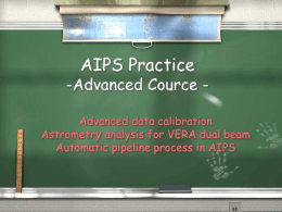 AIPS Practice -Advanced Cource