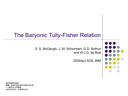 """The Baryonic Tully-Fisher Relation"" (McGaugh et al.2000)"