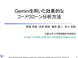 Geminiを用いた効果的なコードクローン分析方法