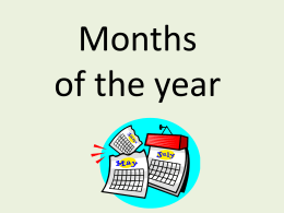 Months of the year - Japanese Teaching Ideas