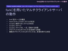 fork()を用いたマルチクライアントサーバの動作