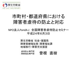 障害者虐待防止マニュアル 解説パワポ