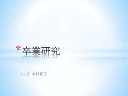 卒業研究 - TNT
