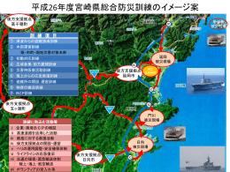 平成26年度宮崎県総合防災訓練イメージ図(PowerPointファイル:408KB)