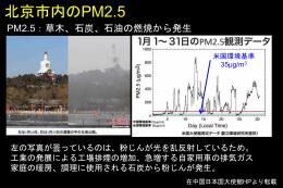 微小粒子状物質(PM2.5)
