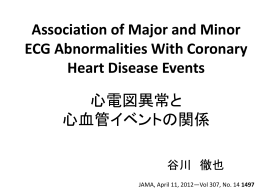 Association of Major and Minor ECG Abnormalities With