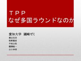 TPP~なぜ多国ラウンドなのか