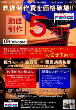 動画制作5万円 - 株式会社ピース