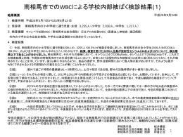 小・中学校内部被ばく検診結果(1)