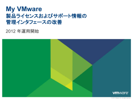 My VMware インタフェースの概要