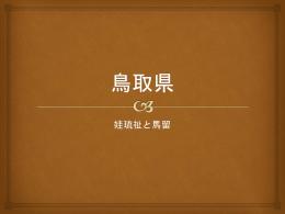 鳥取県 娃琉祉と馬留 日本海側 広島 東=兵庫県 西=島根県 南=岡山県