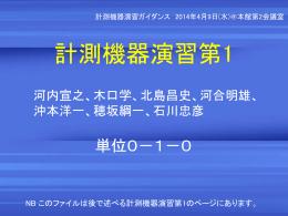 新入生オリエンテーションで説明したファイル(2014/4)
