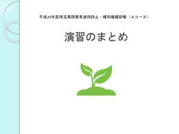 演習のまとめ(講義) - 埼玉県社会福祉協議会