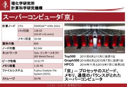 スーパーコンピュータ「京」紹介スライド