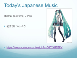 Today*s Japanese Music