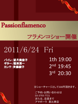 Passionflamenco フラメンコショー開催